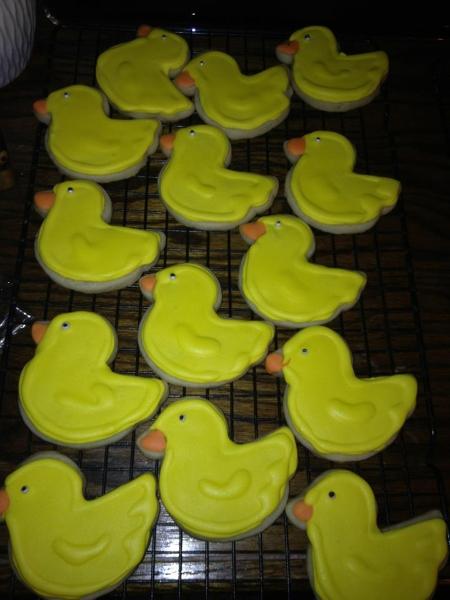 Duck Shower Cookies