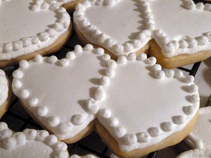 Bridal Shower Sugar Cookie Hearts
