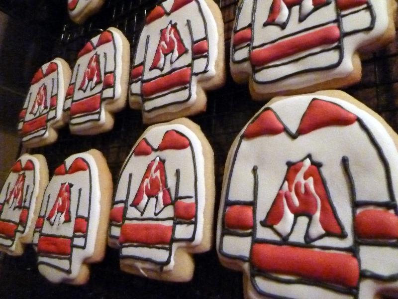 Hockey Jersey Cookies - Atlanta Fire