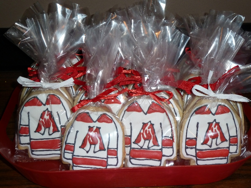 Hockey Jersey Cookies - Atlanta Fire