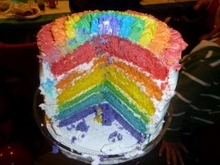 Rainbow Party Rainbow Cake Inside