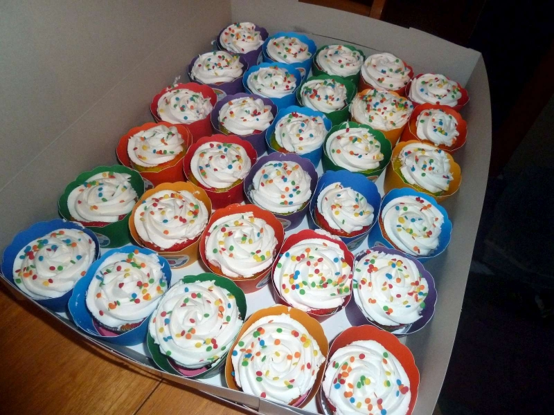 Rainbow Cupcakes in Box