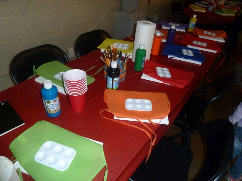Rainbow Party Painting Stations 2