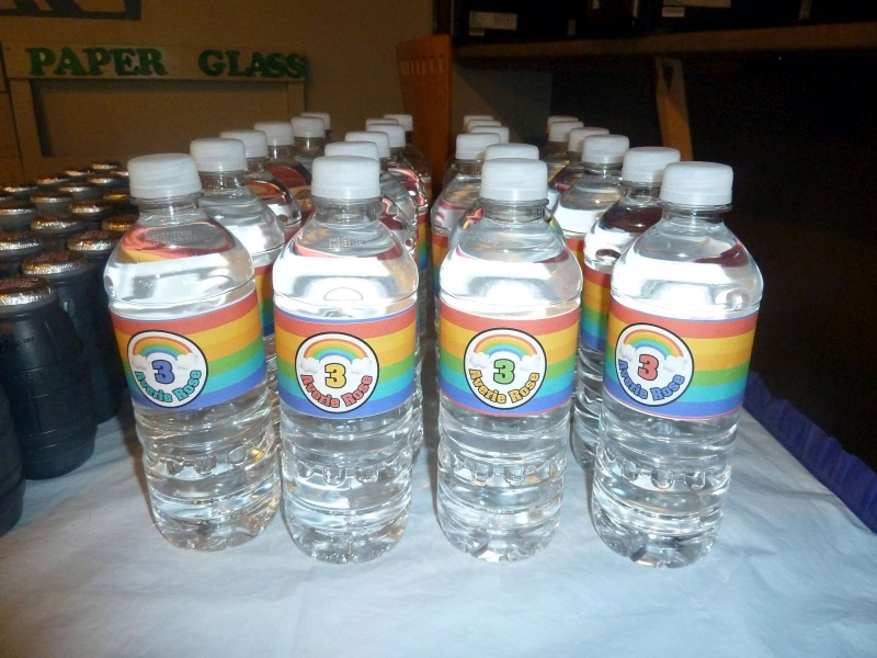 Rainbow Party Water Bottles
