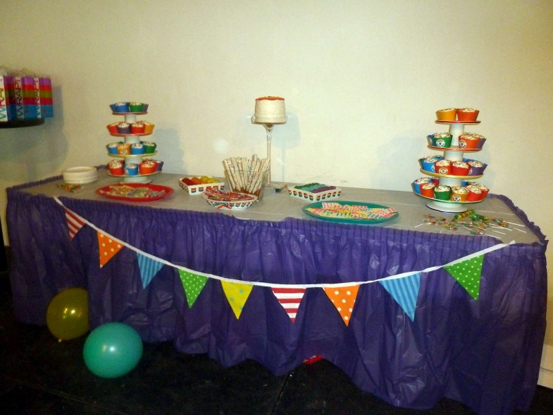 Rainbow Party Treat Table