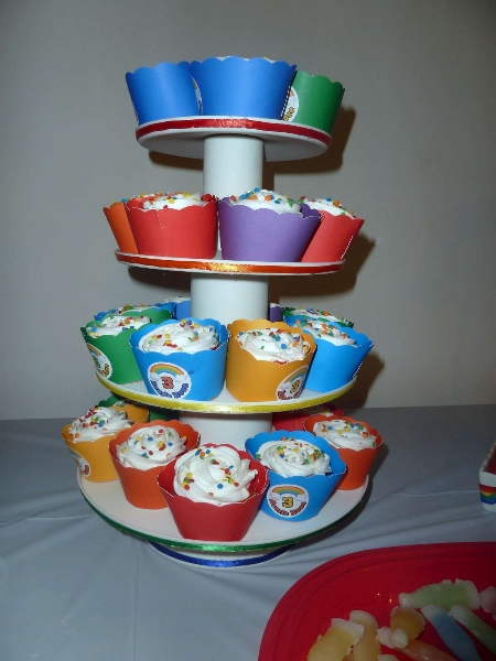 Rainbow Party Cupcake Tree 1