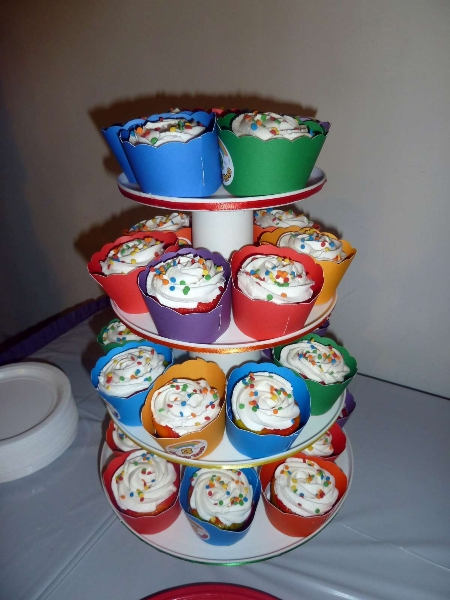 Rainbow Party Cupcake Tree 2