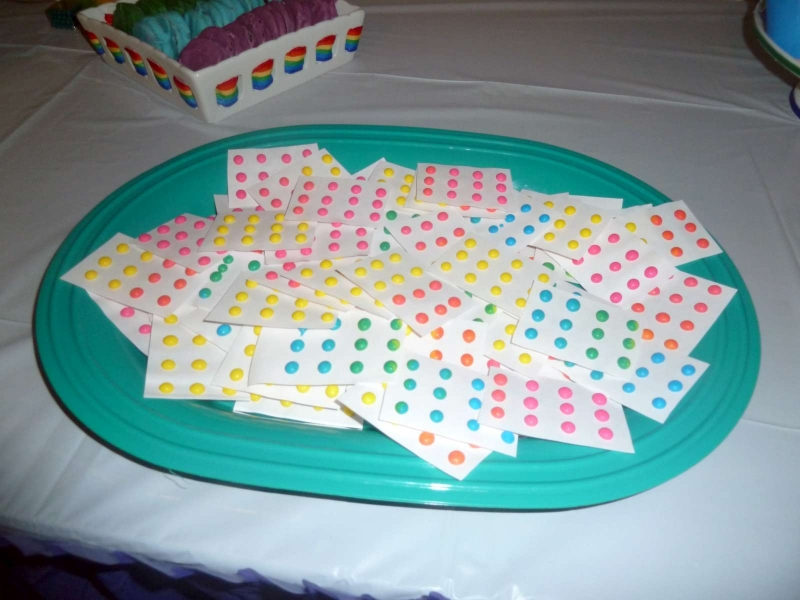 Rainbow Party Candy Dots