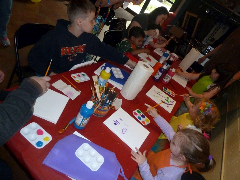 Rainbow Party Painting Time