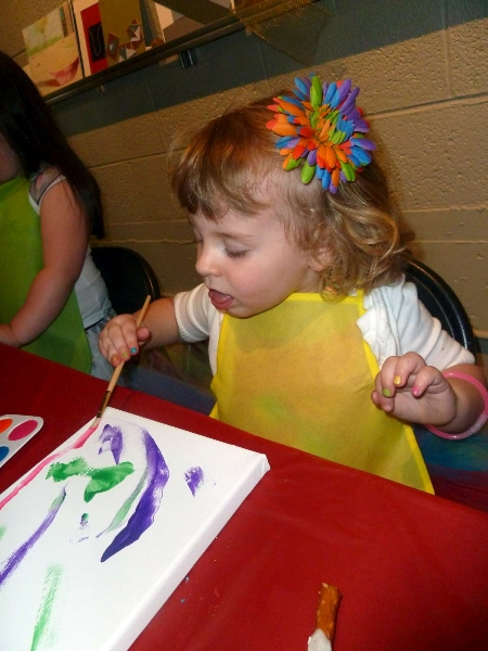 Rainbow Party Averie Painting
