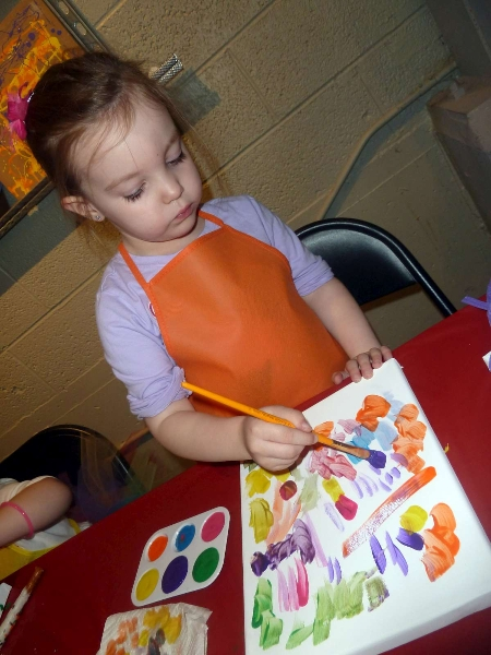 Rainbow Party K Painting