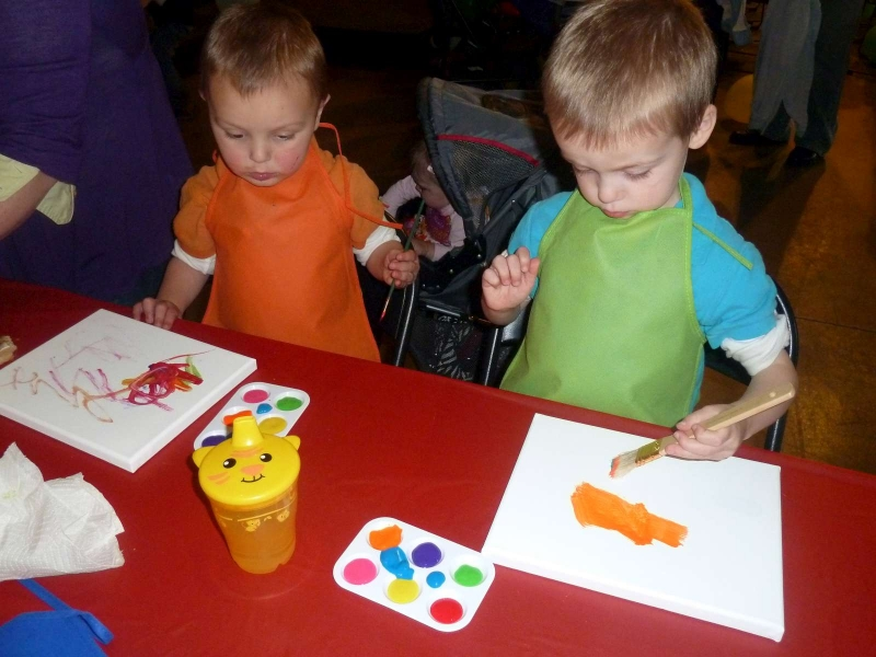 Rainbow Party P Boys Painting
