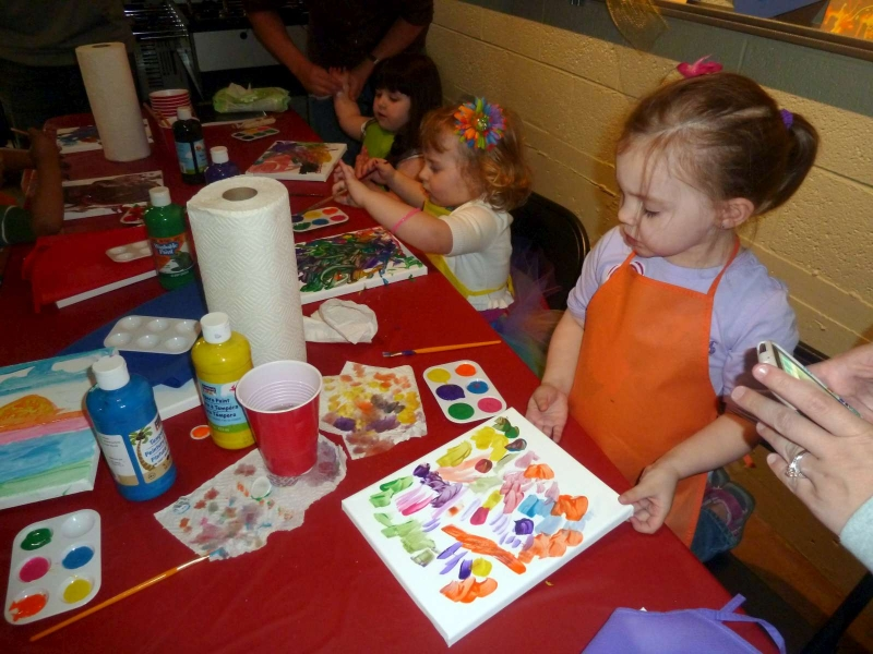 Rainbow Party Kids Paitning
