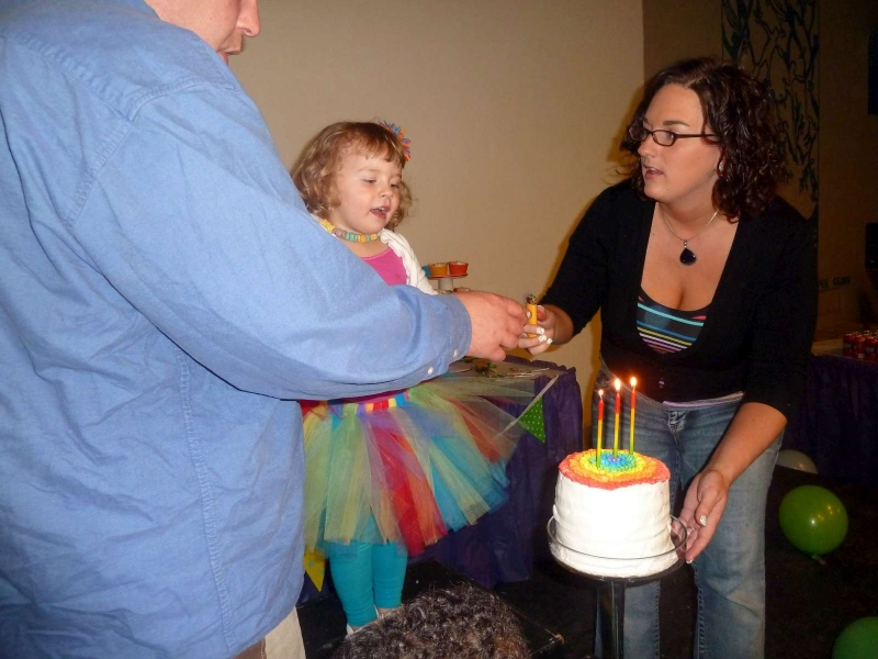 Rainbow Party Singing Birthday