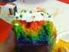Rainbow Party Cupcake Insides