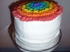 Rainbow Party Cake in Stand