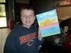 Rainbow Party Jordan's Finished Painting